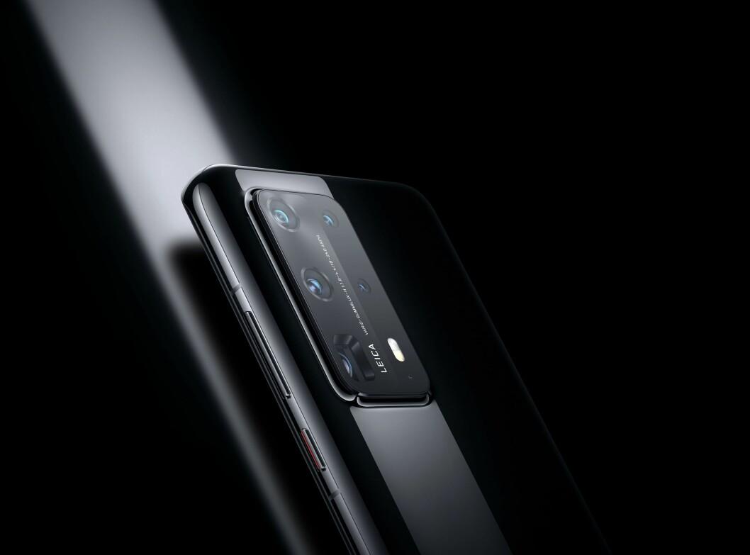 Huawei P40 Pro+ har fem kamera på baksiden, med både 10x og 3x optisk zoom. Foto: Huawei.