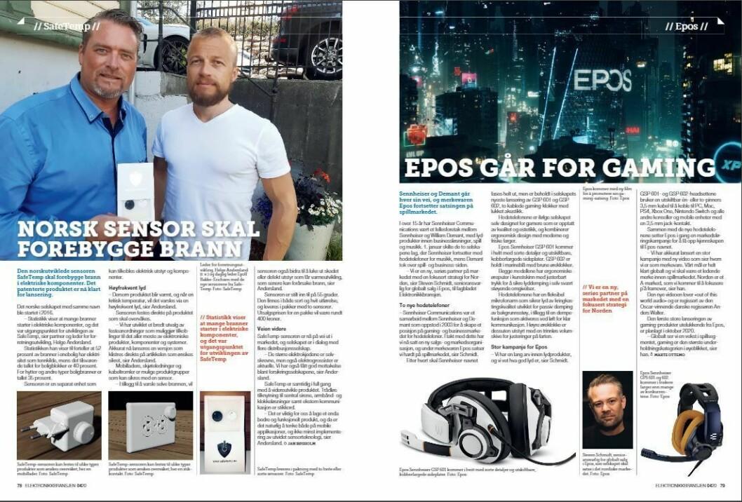 """Artikkelen ble første gang publisert i papirutgaven av fagbladet Elektronikkbransjen nr. 4/2020, som ble distribuert 31. august. <a href=""""https://www.mypaper.se/html5/customer/248/12936/?page=78"""" target=""""_blank"""" rel=""""noopener"""">Her kan du lese artikkelen</a> og bla gjennom digitalutgaven av bladet. Du kan lese alle utgaver av bladet digitalt, fra og med nr. 1/1937, på <a href=""""https://www.elektronikkbransjen.no/historiskarkiv"""" target=""""_blank"""" rel=""""noopener"""">elektronikkbransjen.no/historiskarkiv</a>."""