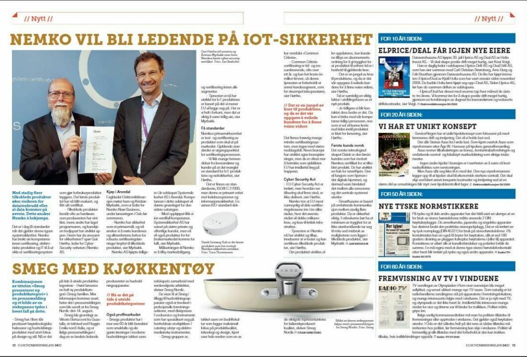 """Artikkelen ble første gang publisert i papirutgaven av fagbladet Elektronikkbransjen nr. 4/2020, som ble distribuert 31. august. <a href=""""https://www.mypaper.se/html5/customer/248/12936/?page=12"""" target=""""_blank"""" rel=""""noopener"""">Her kan du lese artikkelen</a> og bla gjennom digitalutgaven av bladet. Du kan lese alle utgaver av bladet digitalt, fra og med nr. 1/1937, på <a href=""""https://www.elektronikkbransjen.no/historiskarkiv"""" target=""""_blank"""" rel=""""noopener"""">elektronikkbransjen.no/historiskarkiv</a>."""