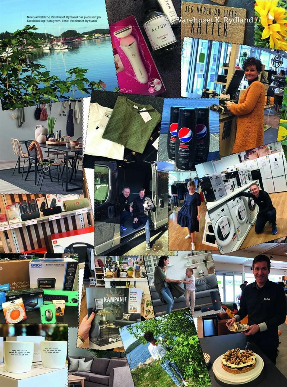 Noen av bildene Varehuset Rydland har publisert på Facebook og Instagram. Foto: Varehuset Rydland.