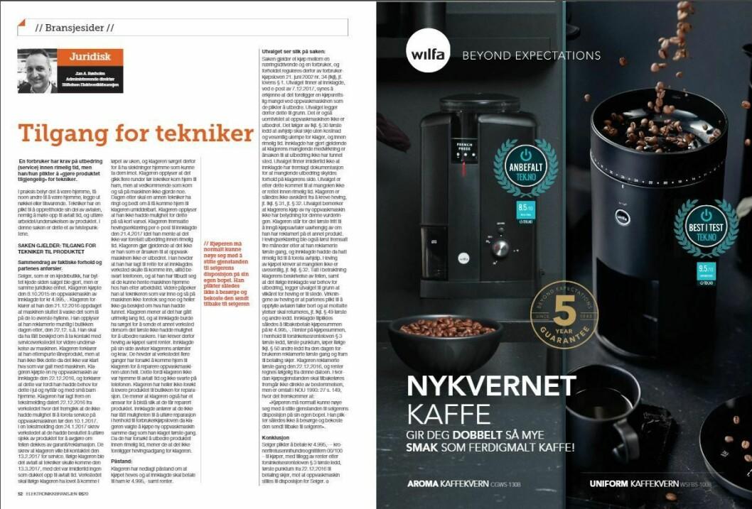 """Artikkelen ble første gang publisert i papirutgaven av fagbladet Elektronikkbransjen nr. 5/2020, som ble distribuert 12 oktober. <a href=""""https://www.mypaper.se/html5/customer/248/12968/?page=52"""" target=""""_blank"""" rel=""""noopener"""">Her kan du lese artikkelen </a>og bla gjennom digitalutgaven av bladet. Du kan lese alle utgaver av bladet digitalt, fra og med nr. 1/1937, på <a href=""""https://www.elektronikkbransjen.no/historiskarkiv"""" target=""""_blank"""" rel=""""noopener"""">elektronikkbransjen.no/historiskarkiv</a>."""