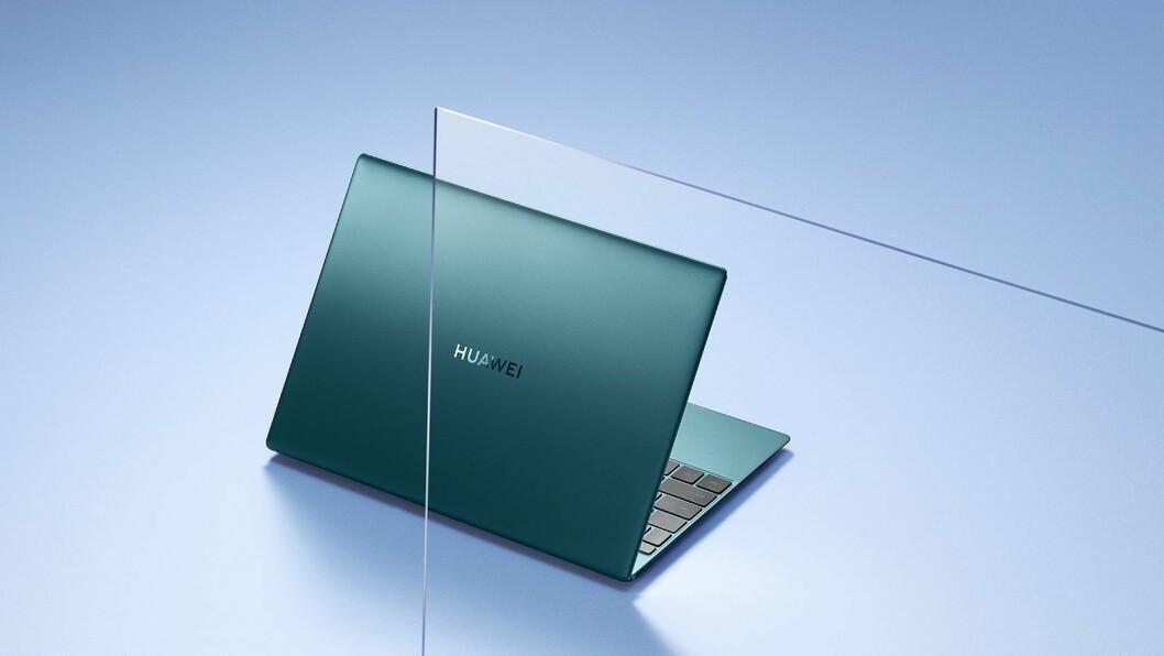 Huawei skryter av at nye Matebook X er både superlett og tynn. Foto: Huawei.
