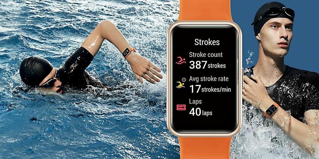 Huawei Watch Fit kommer med en rekke ulike treningsprogram. Foto: Huawei.