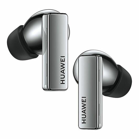 Huawei FreeBuds Pro kan sømløst bytte mellom to tilkoplede enheter. Pris: 2.000,-. Foto: Huawei.