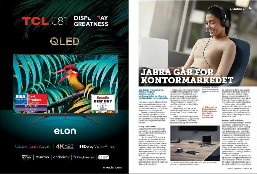 """Artikkelen ble første gang publisert i papirutgaven av fagbladet Elektronikkbransjen nr. 5/2020, som ble distribuert 12 oktober. <a href=""""https://www.mypaper.se/html5/customer/248/12968/?page=68"""" target=""""_blank"""" rel=""""noopener"""">Her kan du lese artikkelen</a> og bla gjennom digitalutgaven av bladet. Du kan lese alle utgaver av bladet digitalt, fra og med nr. 1/1937, på <a href=""""https://www.elektronikkbransjen.no/historiskarkiv"""" target=""""_blank"""" rel=""""noopener"""">elektronikkbransjen.no/historiskarkiv</a>."""
