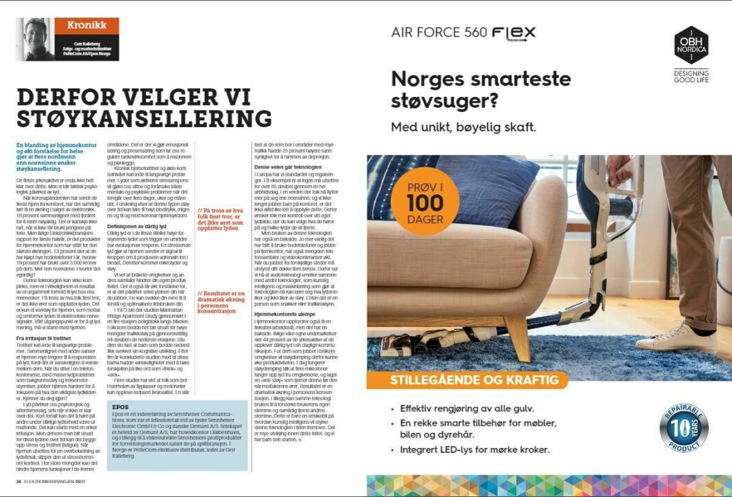 """Artikkelen ble første gang publisert i papirutgaven av fagbladet Elektronikkbransjen nr. 5/2020, som ble distribuert 12 oktober. <a href=""""https://www.mypaper.se/html5/customer/248/12968/?page=34"""" target=""""_blank"""" rel=""""noopener"""">Her kan du lese artikkelen</a> og bla gjennom digitalutgaven av bladet. Du kan lese alle utgaver av bladet digitalt, fra og med nr. 1/1937, på <a href=""""https://www.elektronikkbransjen.no/historiskarkiv"""" target=""""_blank"""" rel=""""noopener"""">elektronikkbransjen.no/historiskarkiv</a>."""