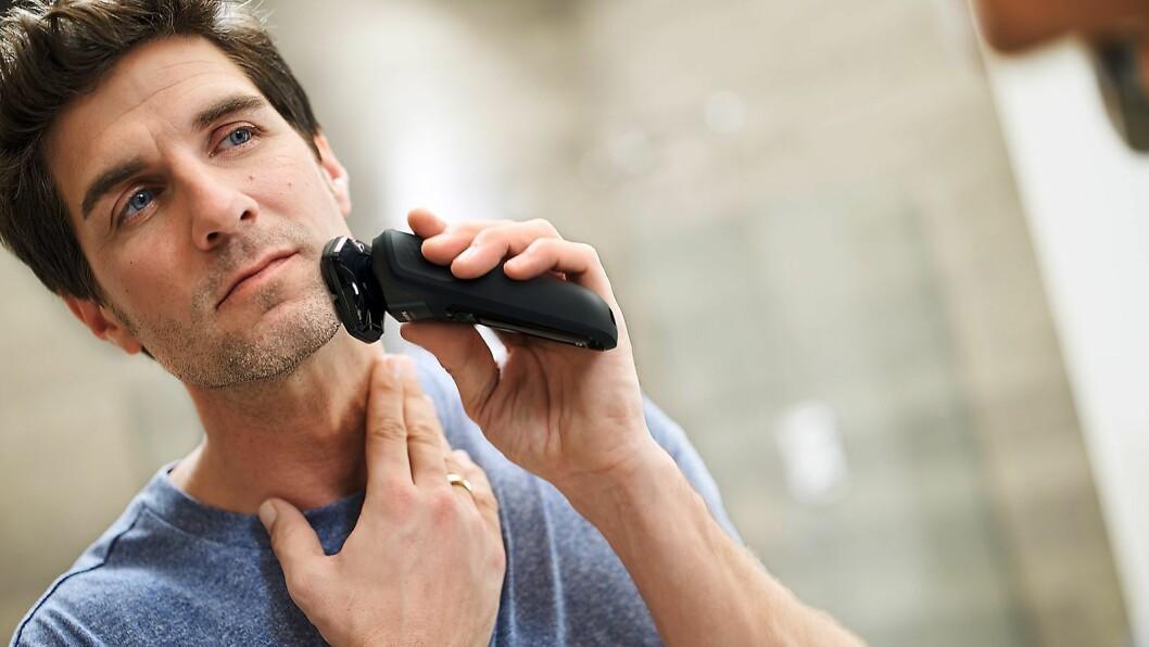 Philips Shaver 5000 har Power Adapt sensoren, som 125 ganger i sekundet skanner motstanden i skjegget tilpasser kraften i bladene etter dette. Foto: Philips.