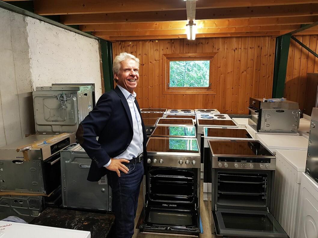 Pål Haugen er prosjektleder for Ombruksprosjektet i Stiftelsen Elektronikkbransjen. Foto: Jan Røsholm.