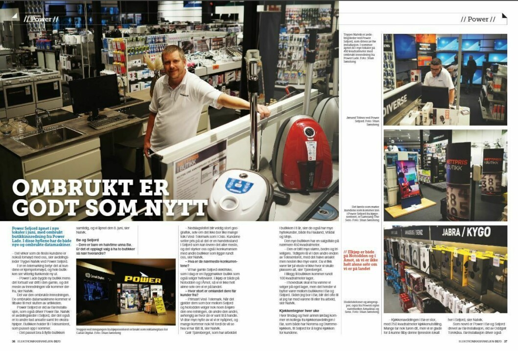 """Artikkelen ble første gang publisert i papirutgaven av fagbladet Elektronikkbransjen nr. 5/2020, som ble distribuert 12 oktober. <a href=""""https://www.mypaper.se/html5/customer/248/12968/?page=36"""" target=""""_blank"""" rel=""""noopener"""">Her kan du lese artikkelen</a> og bla gjennom digitalutgaven av bladet. Du kan lese alle utgaver av bladet digitalt, fra og med nr. 1/1937, på <a href=""""https://www.elektronikkbransjen.no/historiskarkiv"""" target=""""_blank"""" rel=""""noopener"""">elektronikkbransjen.no/historiskarkiv</a>."""