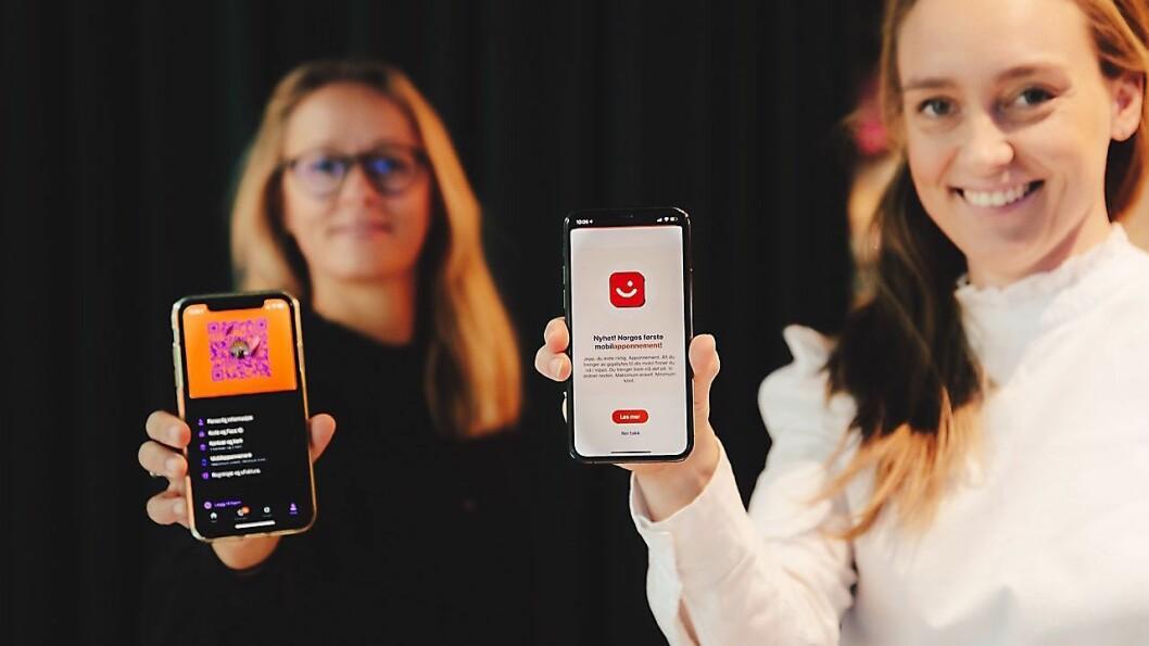 Vipps-sjef Elisabeth Haug (t.v.), her sammen med produktsjef for Vipps mobil,Tonje Foss Kløve, sier mange nordmenn tror at de får med all ubrukt data over til neste måned i sitt vanlige mobilabonnement. Foto: Vipps