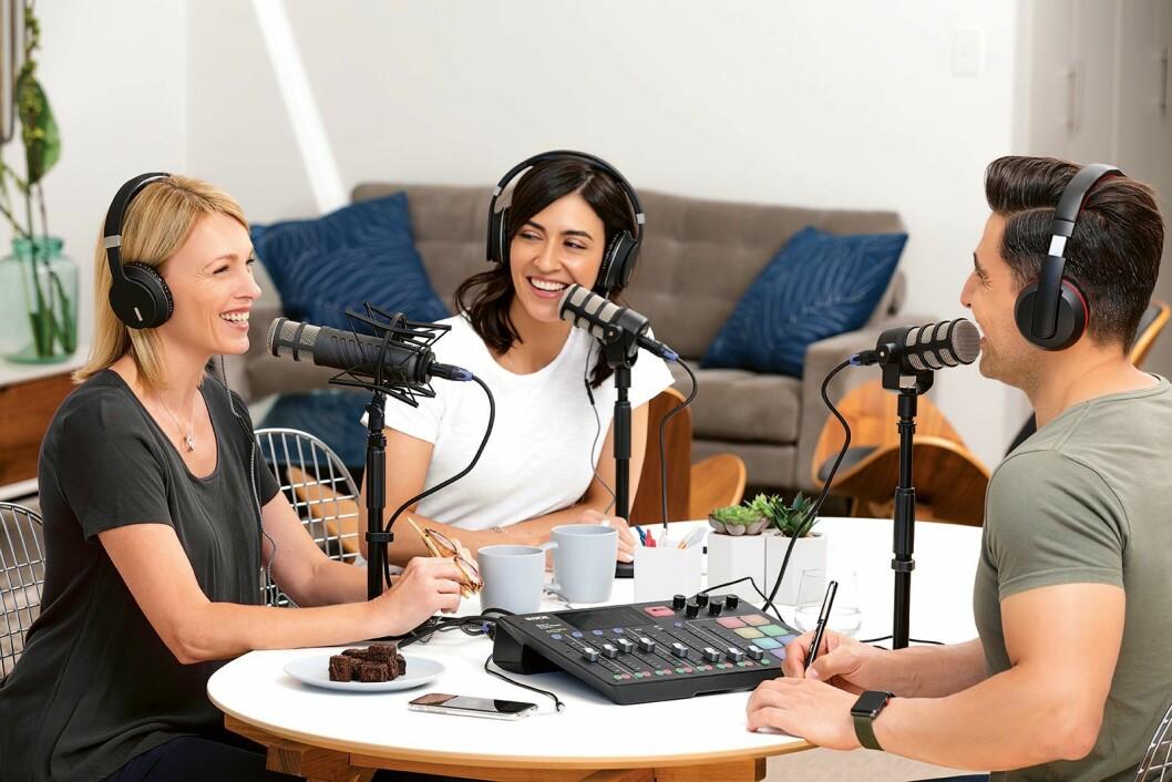 Røde Caster Pro er ifølge Polysonic en markedsledende mikser som brukes både av amatører, semiprofesjonelle men også profesjonelle podcastere. Pris: 7.600,-Foto: Røde.