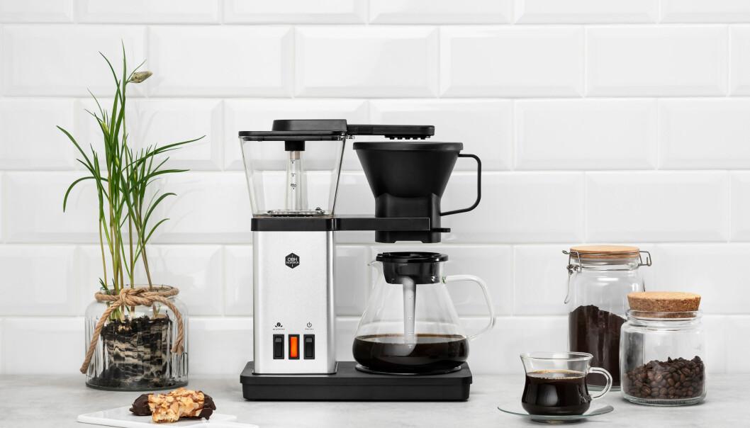 Kaffetrakteren OBH Blooming Coffee Maker ble nylig godkjent av European Coffee Brewing Centre. Foto: OBH Nordica