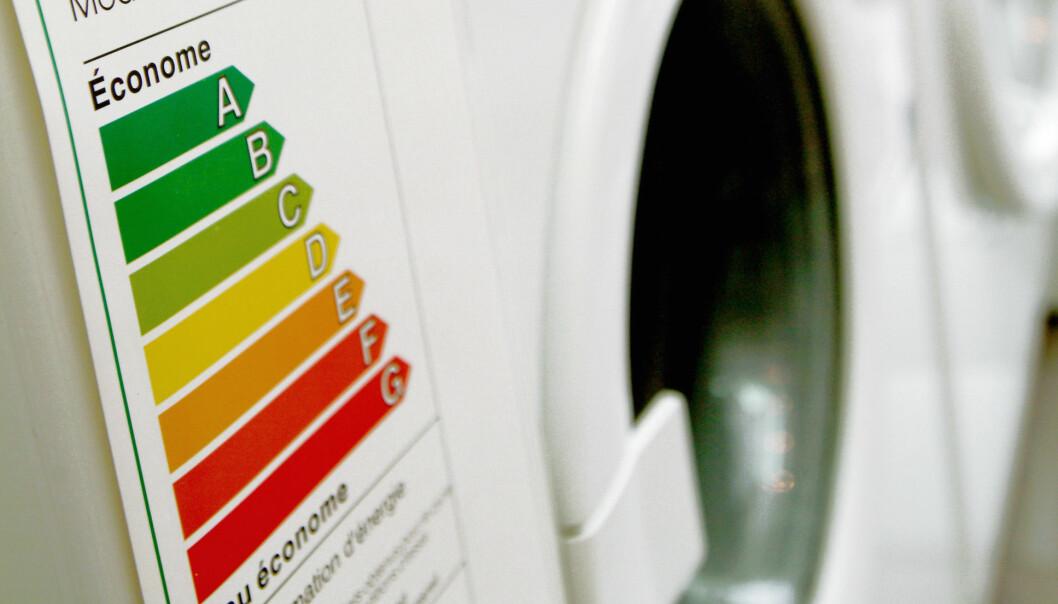 Nå kommer det nye energimerker på vaskemaskiner og oppvaskmaskiner. Foto: @EU 2003