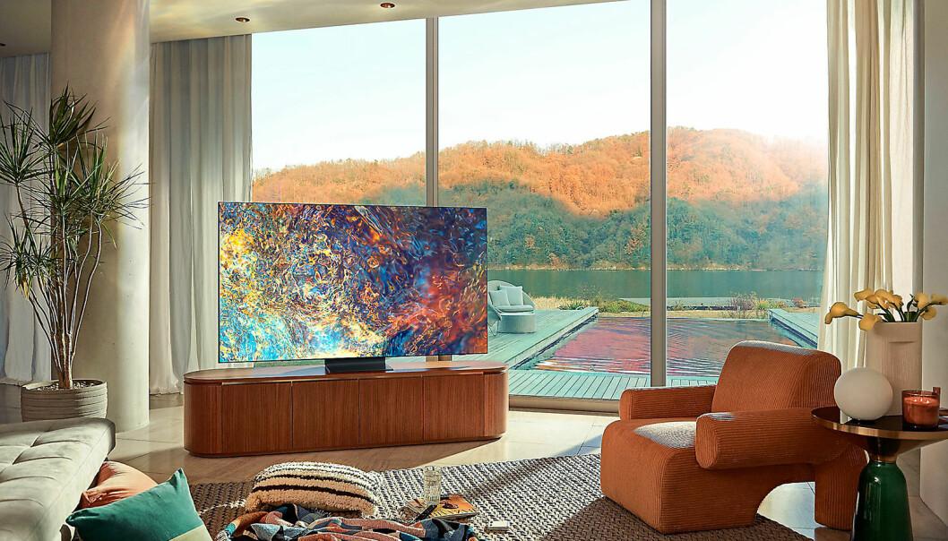 Samsungs nye TV-modeller med Neo Qled kommer i 8K eller 4K oppløsning. Foto: Samsung