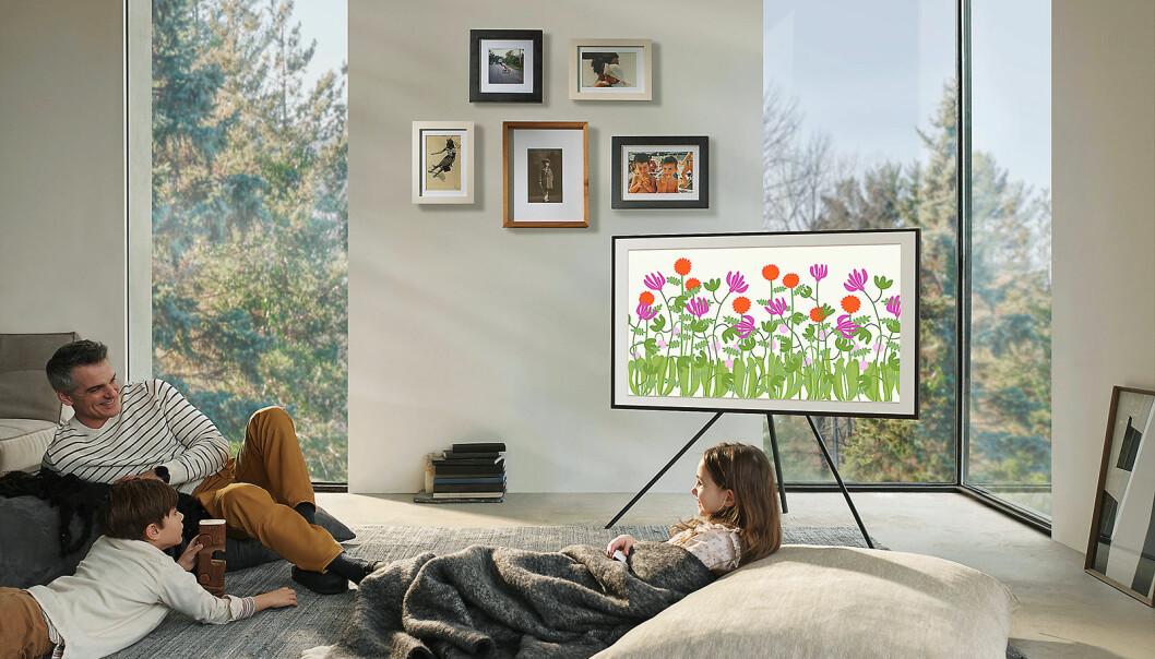 Kunst-TVen The Frame har blitt tynnere og fått flere designvalg. Foto: Samsung