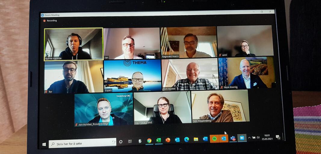Fagbladet Elektronikkbransjen var i den lille og eksklusive gruppen som fikk oppleve Steve Koenigs digitale foredrag i regi av det norske fagnettverket Smart Energy Network. Foto: Jan Røsholm