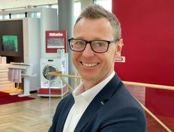 Espen Tho er ny administrerende direktør i Miele Norge. Foto: Stian Sønsteng