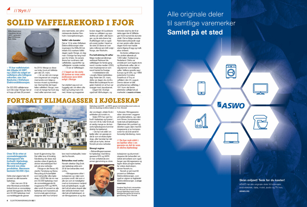 """Artikkelen ble første gang publisert i papirutgaven av fagbladet Elektronikkbransjen nr. 2/2021, som ble distribuert 19 april. <a target=""""_blank"""" href=""""https://www.mypaper.se/html5/customer/248/13163/?page=8"""" aria-label="""""""">Her kan du lese artikkelen</a> og bla gjennom digitalutgaven av bladet. Du kan lese alle utgaver av bladet digitalt, fra og med nr. 1/1937, på <a target=""""_blank"""" href=""""https://www.elektronikkbransjen.no/historiskarkiv"""" aria-label="""""""">elektronikkbransjen.no/historiskarkiv</a>."""