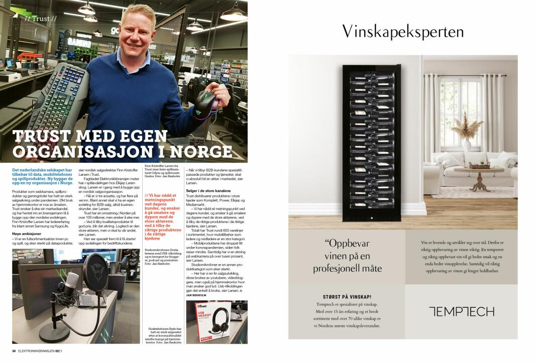 """Artikkelen ble første gang publisert i papirutgaven av fagbladet Elektronikkbransjen nr. 2/2021, som ble distribuert 19 april. <a target=""""_blank"""" href=""""https://www.mypaper.se/html5/customer/248/13163/?page=30"""" aria-label="""""""">Her kan du lese artikkelen</a> og bla gjennom digitalutgaven av bladet. Du kan lese alle utgaver av bladet digitalt, fra og med nr. 1/1937, på <a target=""""_blank"""" href=""""https://www.elektronikkbransjen.no/historiskarkiv"""" aria-label="""""""">elektronikkbransjen.no/historiskarkiv</a>."""