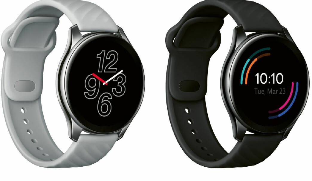 OnePlus Watch er IP68-sertifisert, har over 110 ulike treningsmodi, GPS og pulsmåler. Pris: 1.700,- Foto: OnePlus