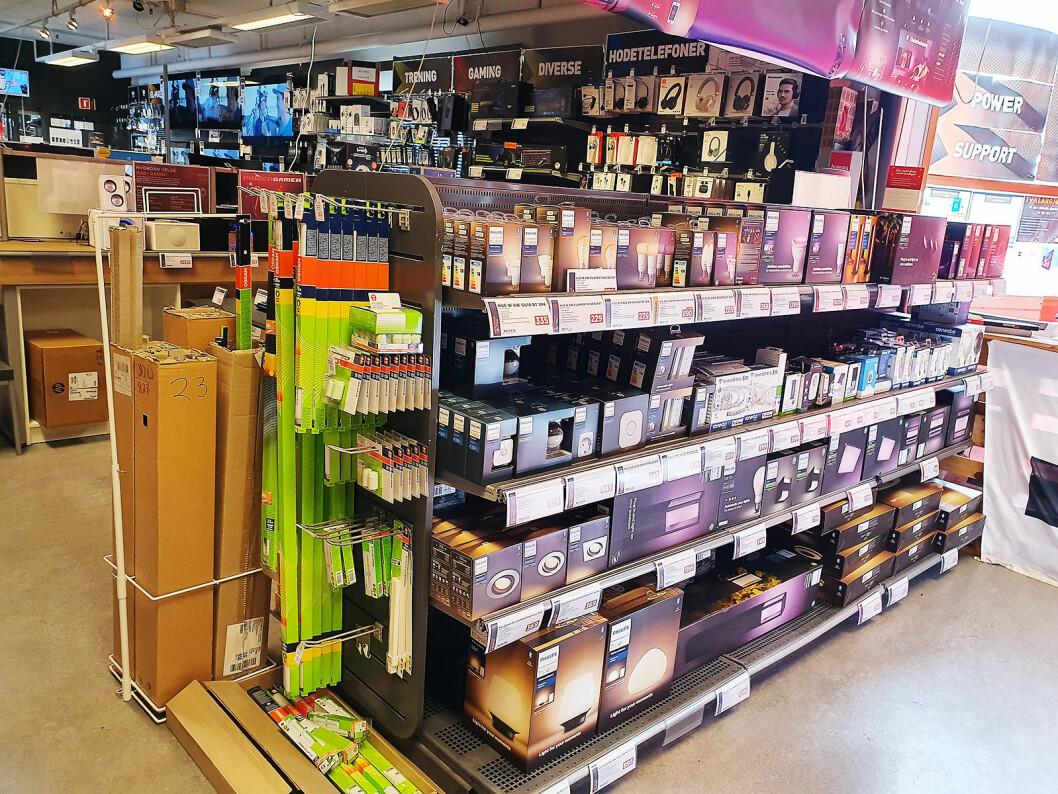 Avedling for lys og lamper hos Power Leksvik. Foto: Jomar Tømmerdal