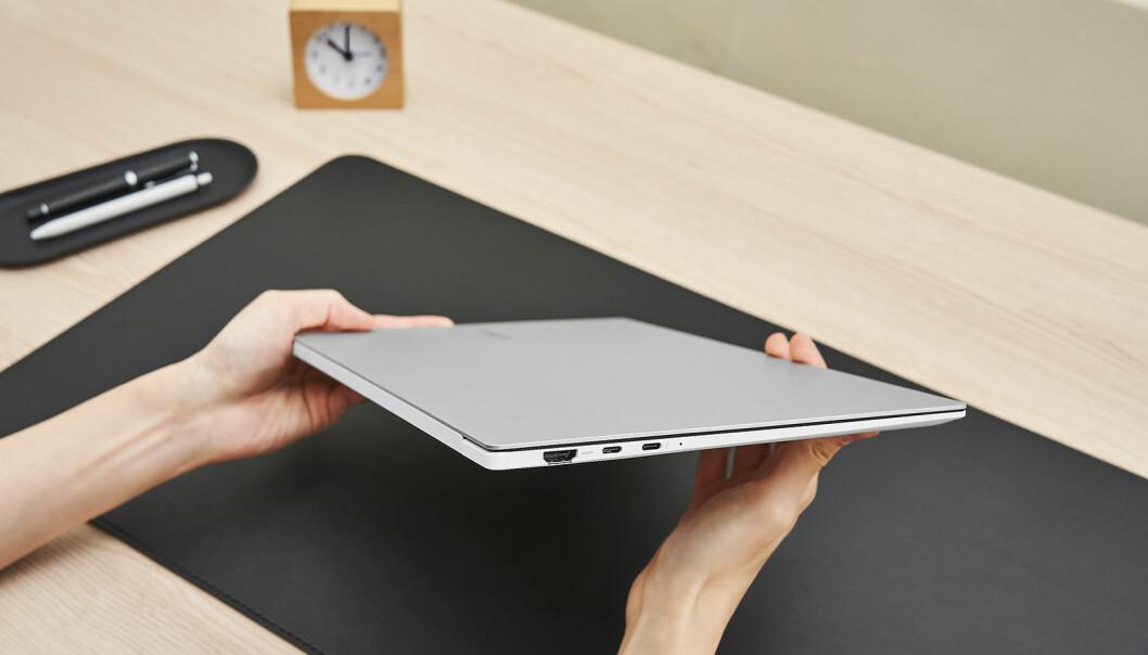 Galaxy Book Pro skal være lett, tynn og enkel å ta med seg. Foto: Samsung
