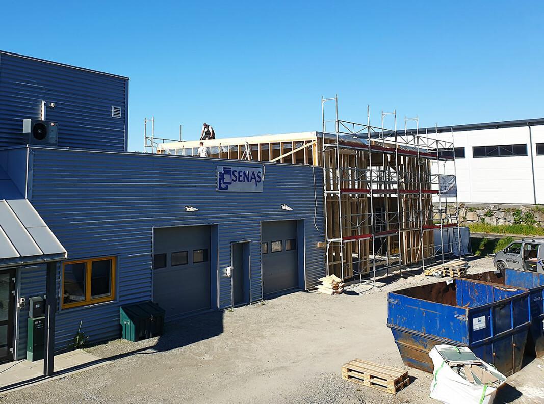 Senas utvider lokalene på Vikersund, og gjør plass til blant annet et ombrukssenter. Foto: Senas