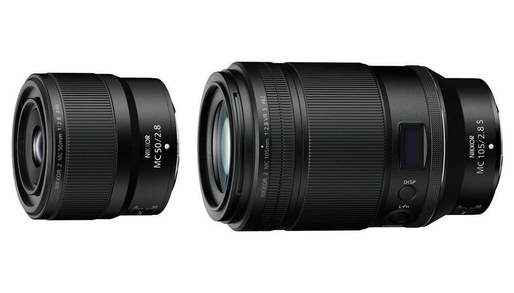 Nikkor Z MC 50mm og 105mm f/2,8. Foto: Nikon