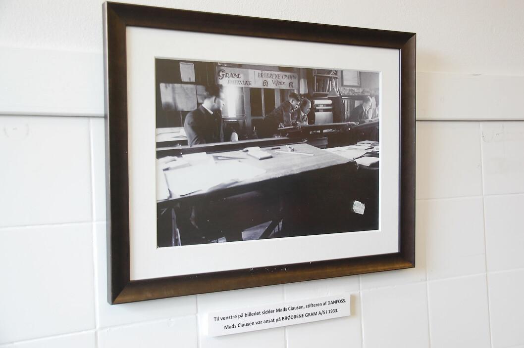 Fra Gram til Danfoss: I 1933 arbeidet Mads Clausen (t. v.) hos Brødrene Gram. Samme år grunnla han det som senere ble Danfoss. Foto: Henrik Egede