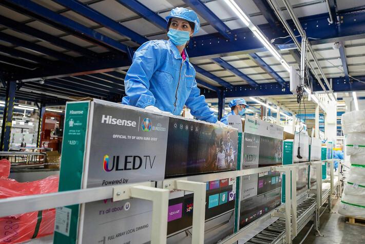 I januar startet Hisense Europe Electronic TV-produksjonen for det europeiske markedet ved fabrikken i Valenje i Slovenia. Foto: Hisense