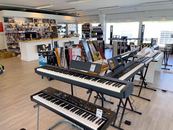 Fra Gjøvik musikkhandel. Foto: Stian Sønsteng