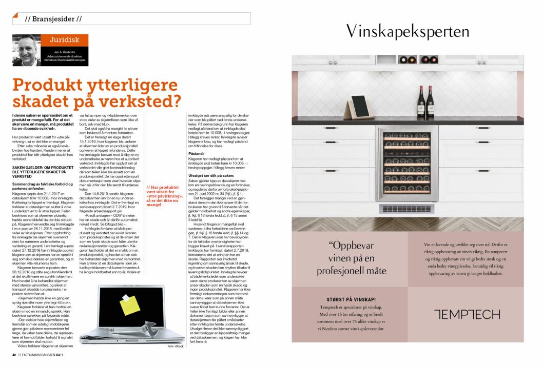 """Artikkelen er tidligere publisert i papirutgaven av fagbladet Elektronikkbransjen nr. 3/2021, som ble distribuert 21. juni. <a target=""""_blank"""" href=""""https://www.mypaper.se/html5/customer/248/13229/?page=40"""" aria-label="""""""">Her kan du lese artikkelen</a> og bla gjennom digitalutgaven av bladet. Du kan lese alle utgaver av bladet digitalt, fra og med nr. 1/1937, på <a target=""""_blank"""" href=""""https://www.elektronikkbransjen.no/historiskarkiv"""" aria-label="""""""">elektronikkbransjen.no/historiskarkiv</a>."""