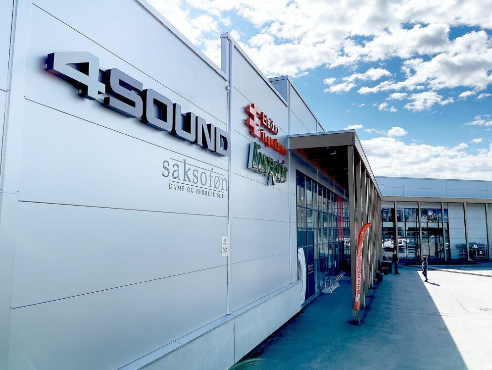 4Sound Gjøvik holder til i samme bygg som Europris og Elektroimportøren. Foto: Stian Sønsteng