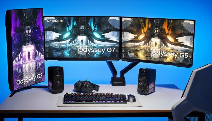 Samsung Odyssey G3, G7 og G5. Foto: Samsung