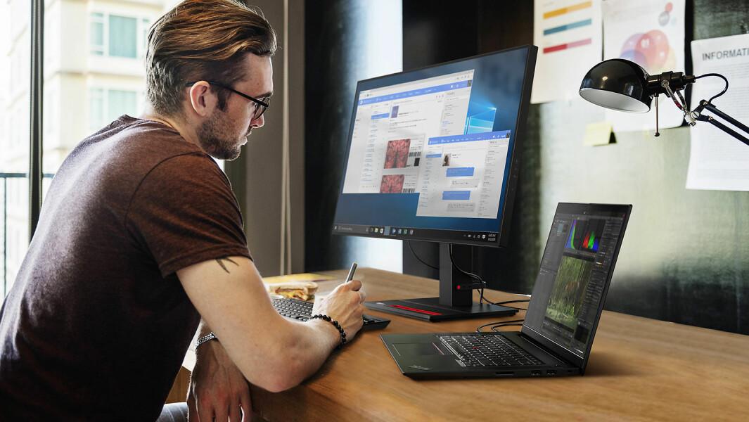 Lenovo lanserer en rekke nye PCer, nettbrett og skjermer på det norske markedet. Foto: Lenovo