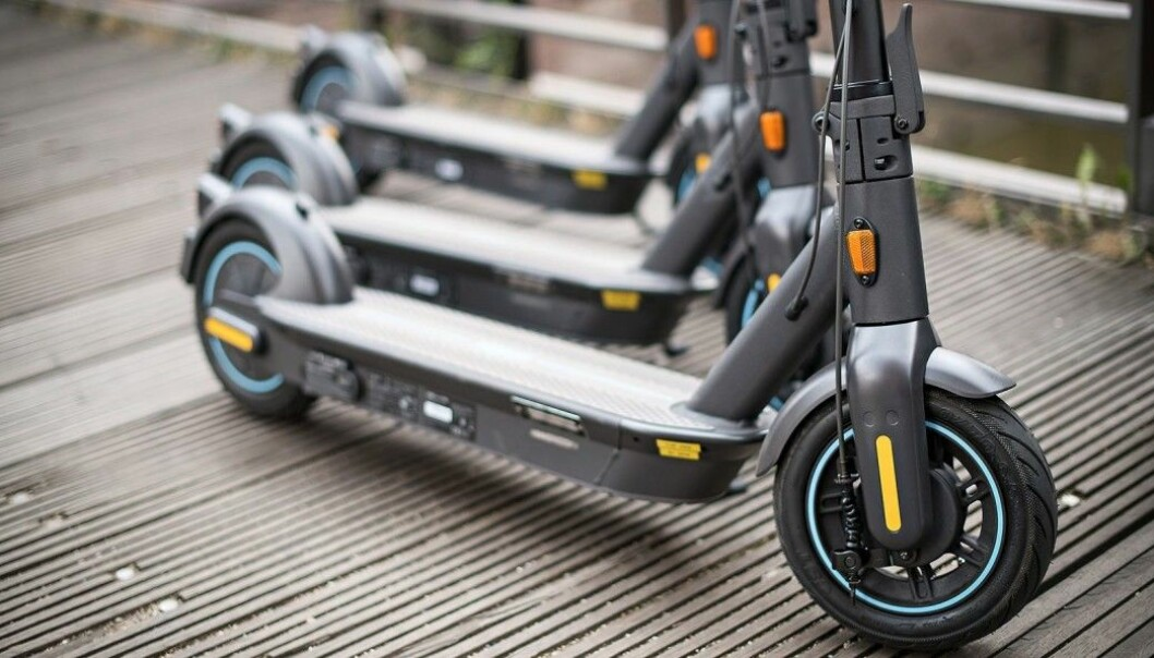 Salget av el-sparkesykler dobler seg i første halvår av 2021. Foto: Segway
