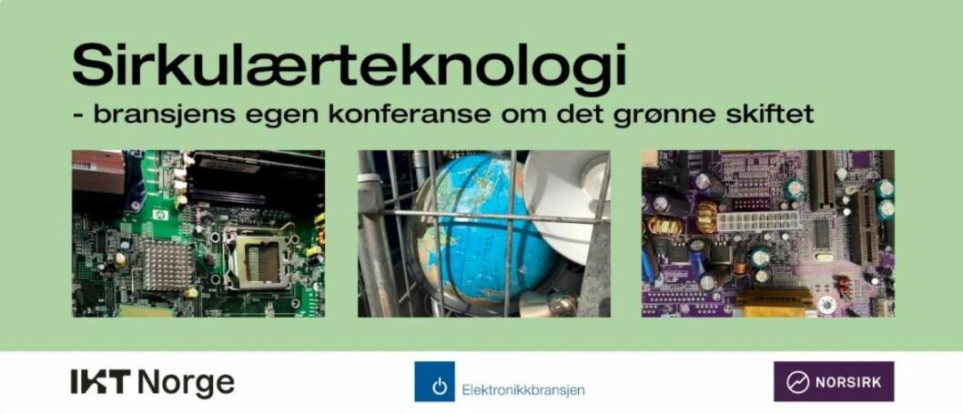 IKT-Norge, Stiftelsen Elektronikkbransjen og Norsirk arrangerer 31. august en digital konferanse om det grønne skiftet.