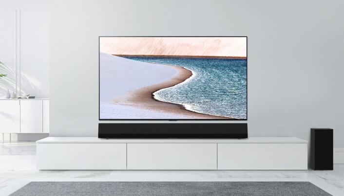 Nå skal TVene være skikkelig store i norske stuer. Foto: LG