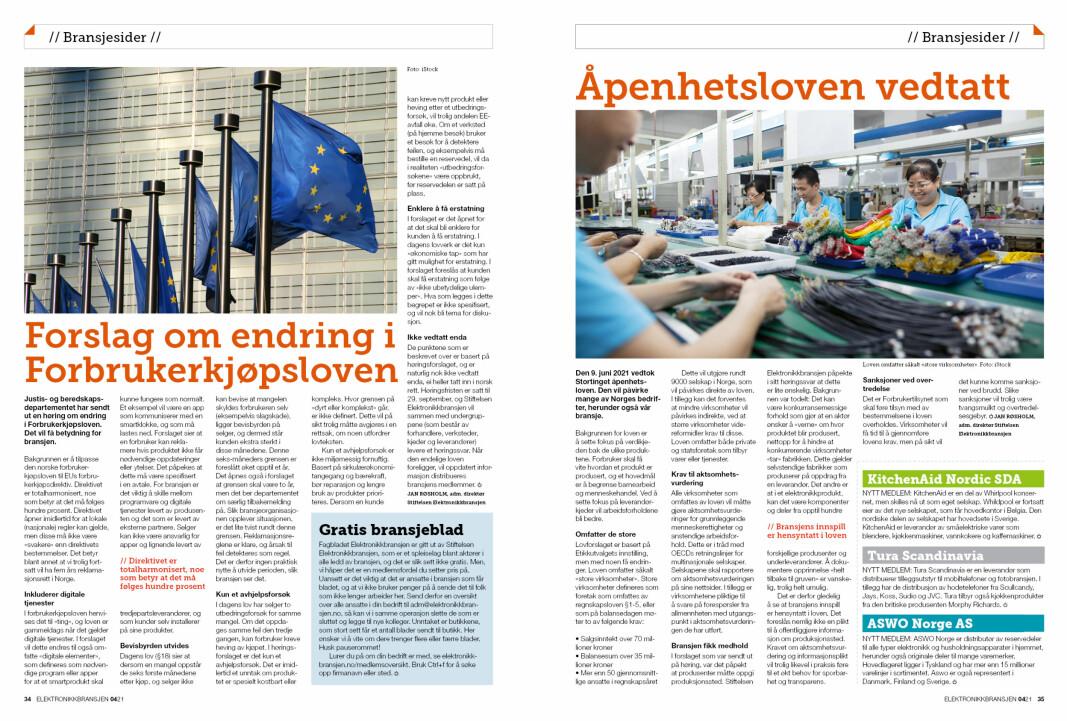 """Artikkelen er tidligere publisert i papirutgaven av fagbladet Elektronikkbransjen nr. 4/2021, som ble distribuert 30. august. <a target=""""_blank"""" href=""""https://www.mypaper.se/html5/customer/248/13267/?page=34"""" aria-label="""""""">Her kan du lese artikkelen</a> og bla gjennom digitalutgaven av bladet. Du kan lese alle utgaver av bladet digitalt, fra og med nr. 1/1937, på <a target=""""_blank"""" href=""""https://www.elektronikkbransjen.no/historiskarkiv"""" aria-label="""""""">elektronikkbransjen.no/historiskarkiv</a>."""
