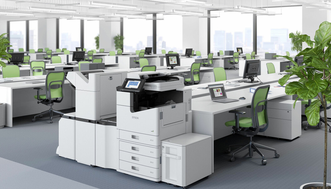Epsons bærekraftrapport sier ingenting om hva det betyr å ha det ryddig på kontoret. Foto: Epson