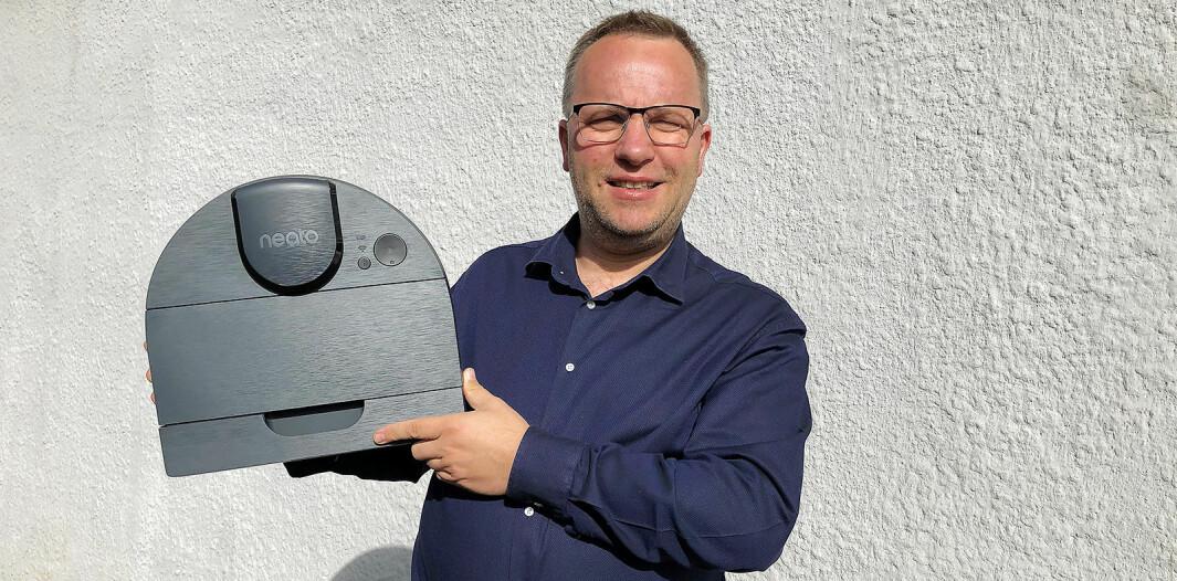 Vidar Elshøy er nordisk salgssjef i Neato Robotics. Foto: Neato