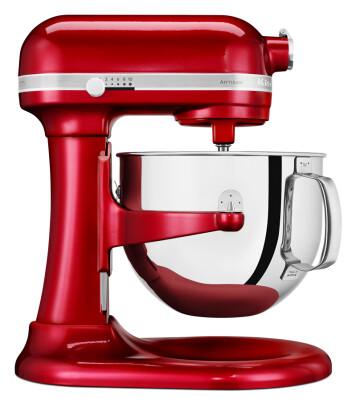 KitchenAid Artisan 5KSM7580XECA har ekstra stor bolle på 6,9 liter der den vanlige har 4,8 liter. KitchenAids kraftigste kjøkkenmaskin for Europa, med 1,3 hestekrefter uteffekt (956W). Pris: 11.000,-