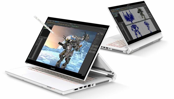 Concept D 5 Pro og resten av maskinene i serien retter seg mot kreatørene. Foto: Acer