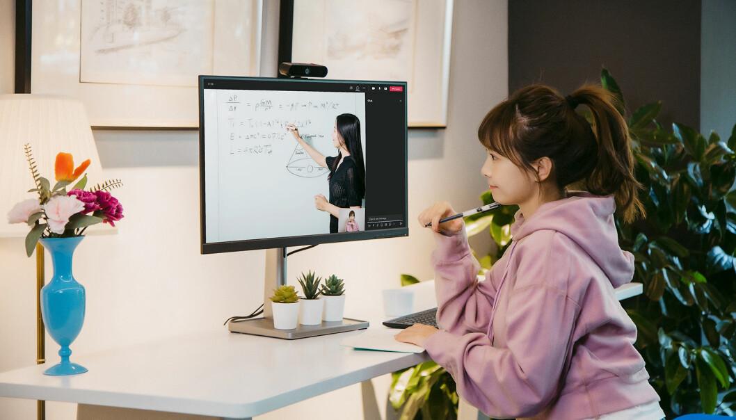 Lenovo lanserer web-kamera også rettet mot forbrukermarkedet, med LC50 Monitor Webcam. Foto: Lenovo