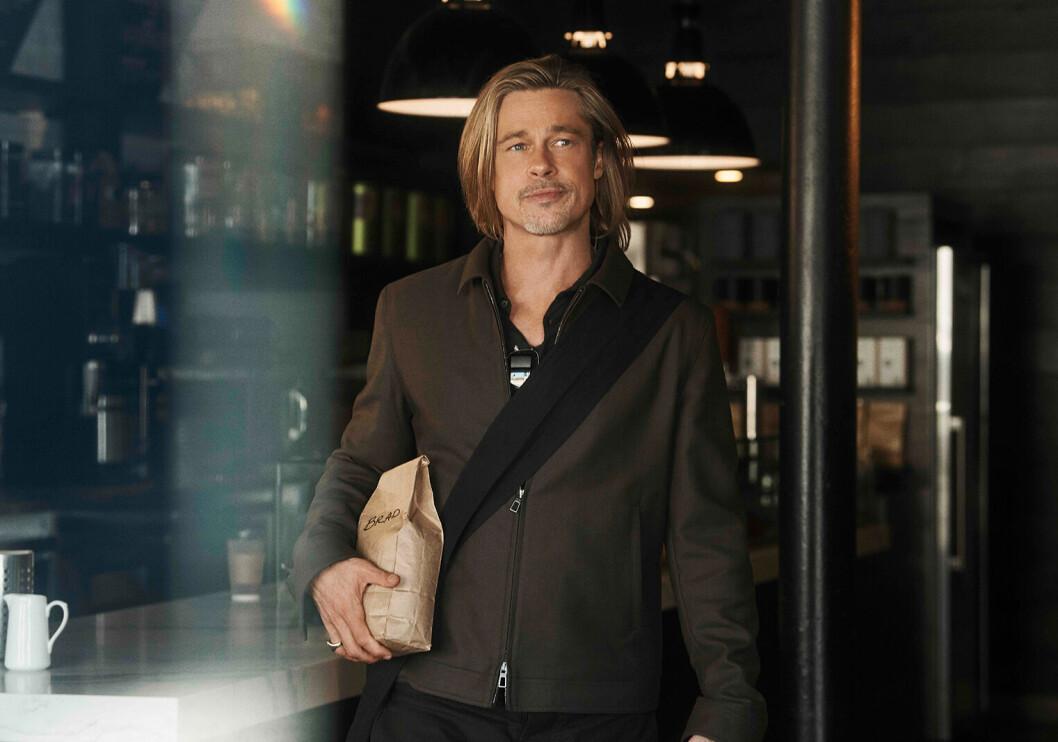 Skuespiller Brad Pitt har vært en handlingens mann, og skaffet seg bønner til sin helautomatiske kaffemaskin. Foto: De'Longhi